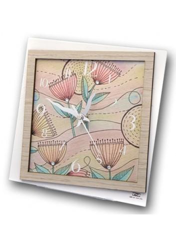 Orologio in metallo e legno con stampa Spring + strass SPRI-03-08-06 Serie Spring Negò