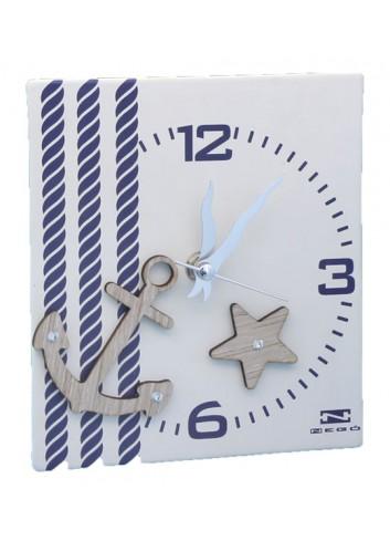 Orologio in ceramica con stampa + appl. legno ANC-03-06 Serie Ancora Negò