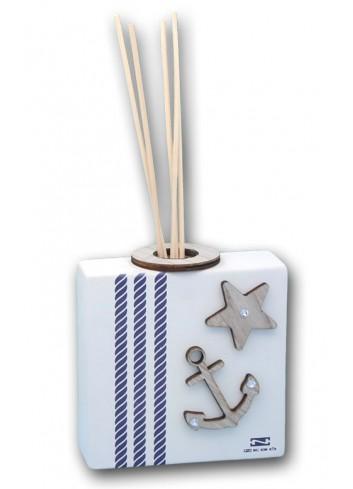 Profumatore in ceramica con stampa + appl. legno ANC-02-04-01 Serie Ancora Negò