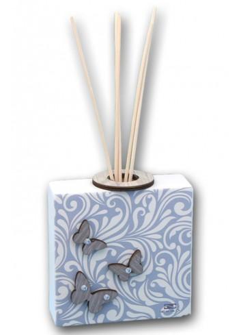 Profumatore in ceramica con stampa + appl. farfalle in legno MAM-02-04-01 Serie Cinzia Negò