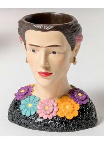 Portapiantina piccolo in resina + shopper Frida B2001 Kahlo Ad Emozioni