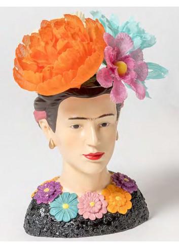 Portapiantina piccolo in resina + sacch. fiori + shopper Frida B2001/A Kahlo Ad Emozioni
