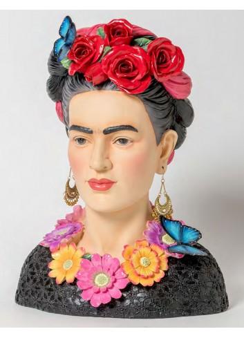 Mezzo busto Frida in resina B2002 Kahlo Ad Emozioni