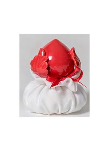 Pigna Rossa 6 x 6 cm + sacchettino B2802/A14 I Pomi Ad Emozioni