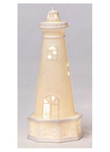Faro in ceramica bianca con led A4607-8 Portofino AD Emozioni