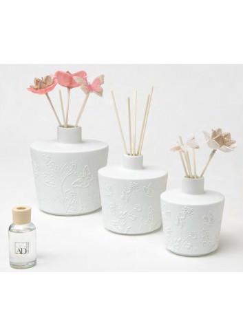 Profumatore in porcellana + fiori e farfalle A7601-2-3-A Primavera Ad Emozioni