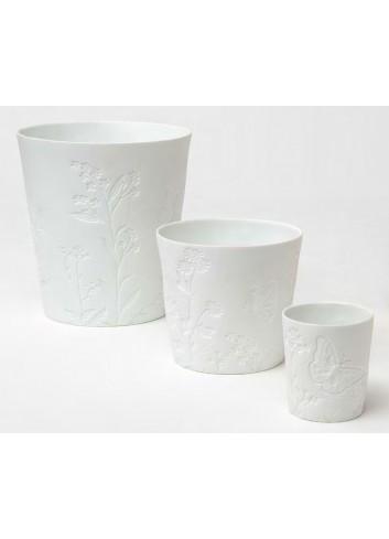 Vaso in porcellana con decoro farfalle A7604-5-6 Primavera Ad Emozioni