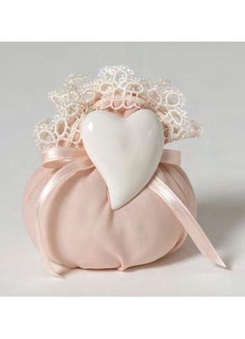 Anello Cuore con sacchetto A9102-A36 Infusi d'Amore Ad Emozioni