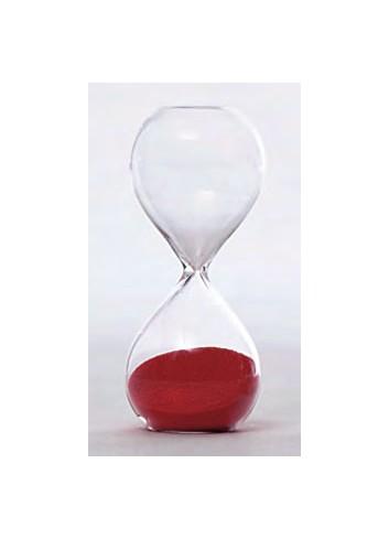 Clessidra in vetro piccola 3 minuti - rosso V8601-14 Tempo Ad Emozioni
