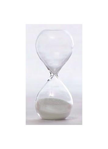Clessidra in vetro piccola 3 minuti - bianco V8601-1 Tempo Ad Emozioni