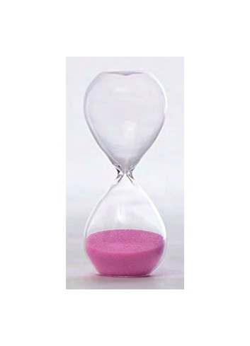 Clessidra in vetro piccola 3 minuti - rosa V8601-2 Tempo Ad Emozioni