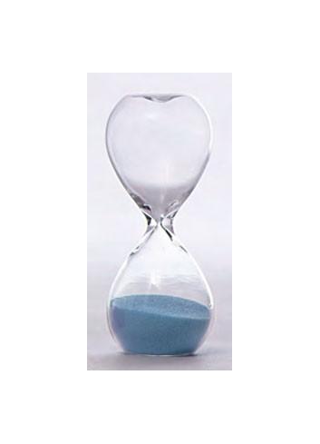 Clessidra in vetro piccola 3 minuti - celeste V8601-3 Tempo Ad Emozioni
