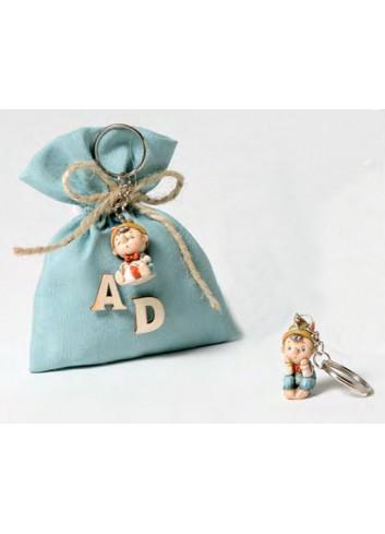 Portachiavi Pinocchio + sacchetto 2 modelli assortiti 130572-A Pinocchio Ad Emozioni