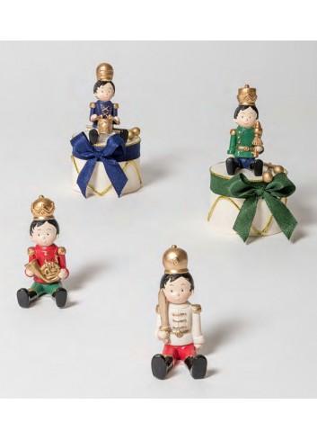 Schiaccianoci piccolo seduto + sacchetto 4 modelli assortiti 130532-A Schiaccianoci Ad Emozioni