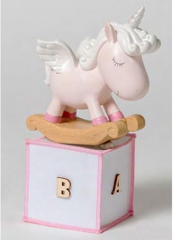 Salvadanaio Unicorno rosa + sacchetto 130523-A2 Baby Unicorns Ad Emozioni