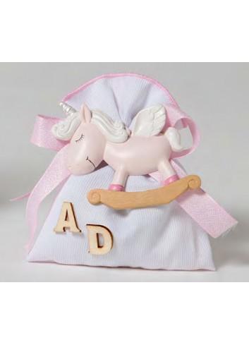 Magnete Unicorno rosa + sacchetto 130521-A2 Baby Unicorns Ad Emozioni