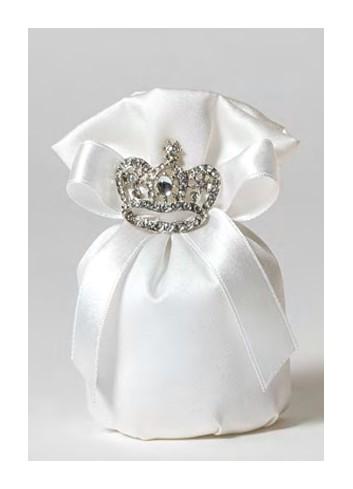 Sacchetto tondo con corona strass 091807-1 Kings & Queens Ad Emozioni