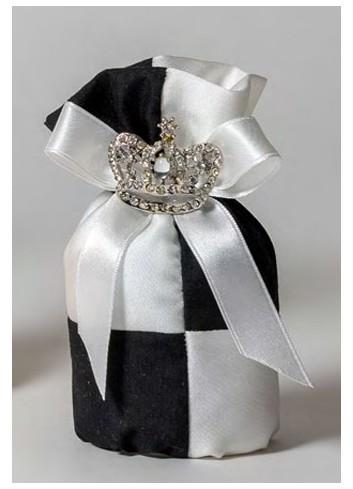 Sacchetto tondo con corona strass 091807-20 Kings & Queens Ad Emozioni