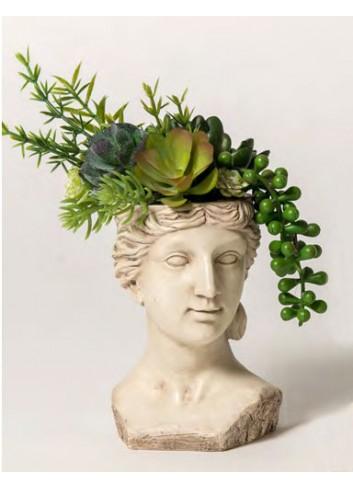 Portapiantina Venere di Milo + decor. piante grasse B2102-4 A Impero Ad Emozioni