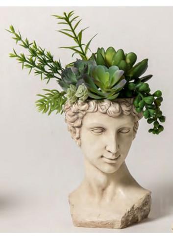 Portapiantina David di Michelangelo + decor. piante grasse B2101-3 A Impero Ad Emozioni