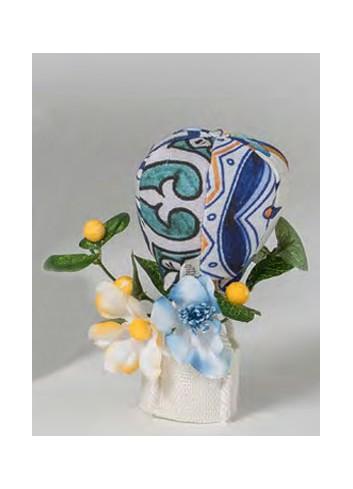Mongolfiera con decoro fiori B3003-4-5 A Vietri Ad Emozioni