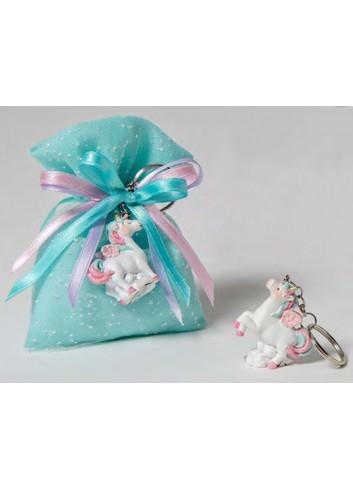 Portachiavi Unicorno 2 modelli assortiti + sacchetto tiffany 130552 A22 Dreams Pony Ad Emozioni