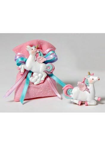 Magnete Unicorno 2 modelli assortiti + sacchetto rosa 130551 A2 Dreams Pony Ad Emozioni