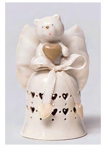 Campanella in porcellana Orsetto + sacchetto A5706-A Happyness Ad Emozioni