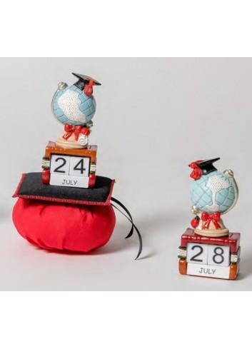 Calendario Mappamondo Laurea 2 modelli assortiti + sacchetto 130544 A 110 e Lode Ad Emozioni