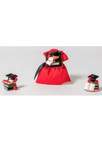 Magnete Laurea 3 modelli assortiti + sacchetto 130541 A 110 e Lode Ad Emozioni