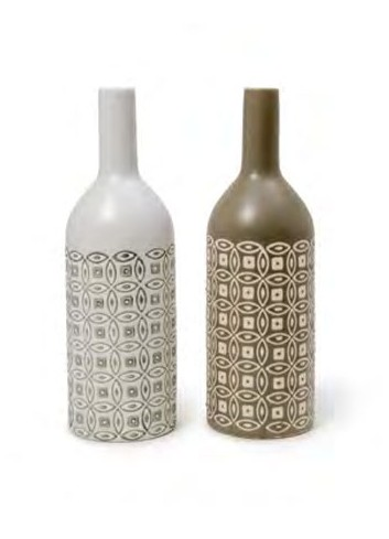 Vaso a bottiglia in ceramica 2 colori assortiti A5803-4 Mikonos Ad Emozioni