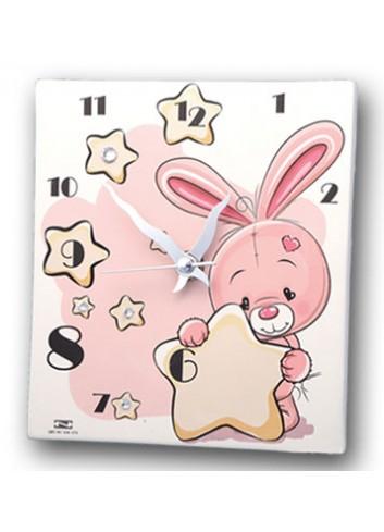 Orologio Bimba con coniglietto rosa KID-03-06 R Serie Kids Negò