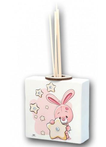Profumatore Bimba con coniglietto rosa KID-04-05 R Serie Kids Negò