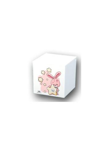 Scatolina con stampa Bimba - Coniglietto rosa KID-07-08-09-10 R Serie Kids Negò