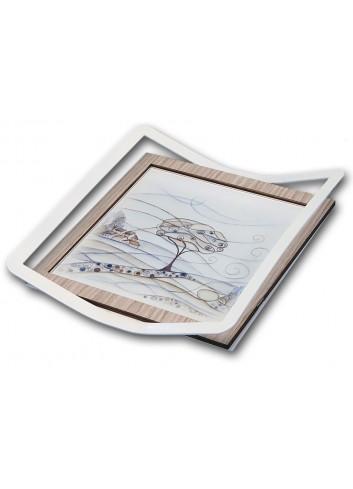 Vassoio in metallo e legno con stampa Paesaggio VPAE-01-02-03 Serie Vassoi Paesaggio Negò