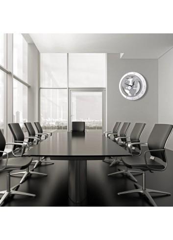 Orologio da parete in metallo + appl. Mondo MON-39 Serie World 2020 Negò