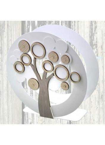 Portatovaglioli verticale Albero Life in metallo e legno + strass LCA-04 Serie Life Casa Negò