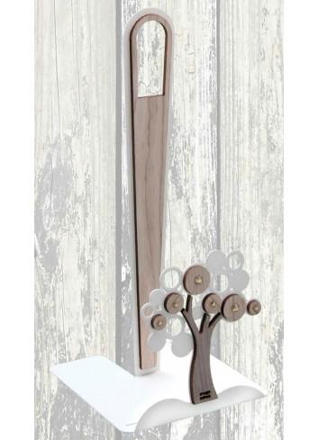 Portarotolo Albero Life in metallo e legno + strass LCA-07 Serie Life Casa Negò