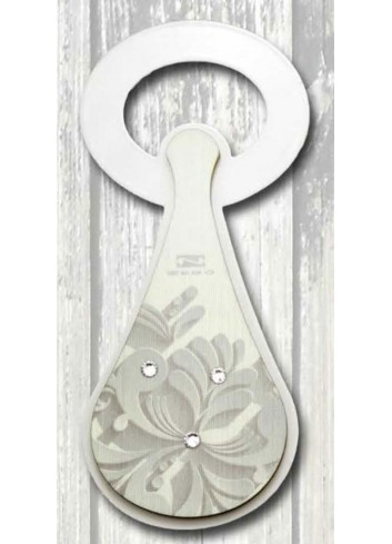 Apribottiglie in metallo + appl. in legno con stampa Luisella SPA-03 Serie Stappo Paesaggio Negò
