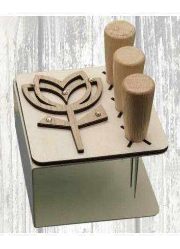 Porta coltellini in metallo + appl. Tulipanoin legno ODL-T Serie Porta coltellini 2020 Negò
