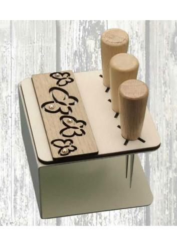 Porta coltellini in metallo + appl. Farfalle in legno ODL-F Serie Porta coltellini 2020 Negò