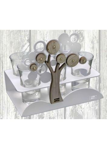 Porta bicchierini in metallo + appl. Albero della vita PB-A Serie Porta Bicchierini Negò