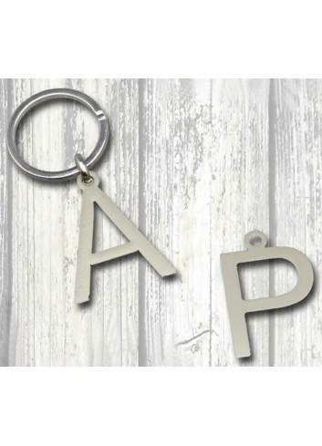 Portachiavi Lettera dell'alfabeto doppia (a scelta) PCLD Serie Lettere Negò