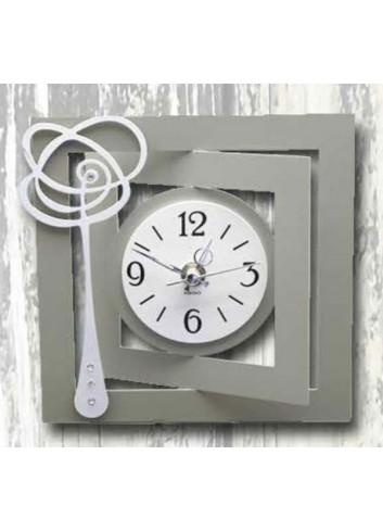 Orologio in metallo con applicazione Fiore astratto WEN-03-06 Serie Wendy Negò