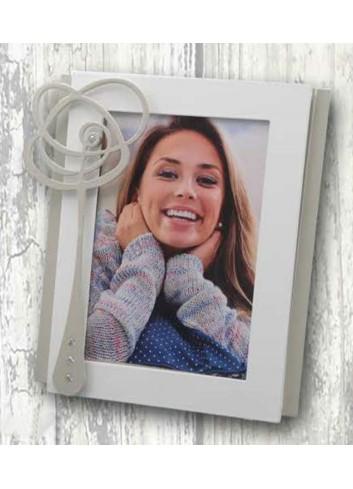Portafoto in metallo con applicazione Fiore astratto WEN-01-1-2-3 Serie Wendy Negò