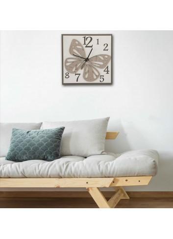 Orologio da parete Farfalla doppio legno LIB-40 Serie Liberty Negò