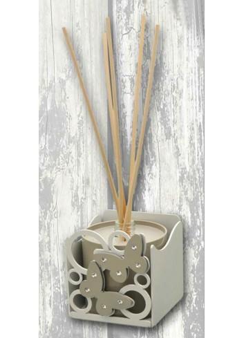 Profumatore in metallo con vasetto + appl. Farfalle MRT-F Serie Marta Negò