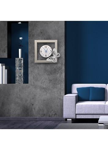 Orologio da parete in metallo con applicazione Farfalla NNA-39-49 Serie Arianna Negò