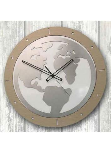 Orologio da appoggio in legno e metallo World WOR-03-08-06 Serie World Negò
