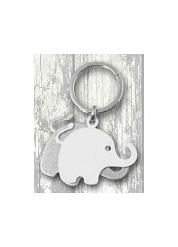 Portachiavi doppio in metallo bianco + silver Elefante PC-49 Serie Portachiavi 019 Negò